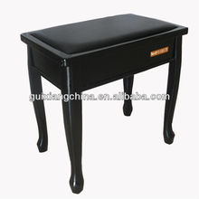 Indoor hot sell piano bench/fahion wood stool for furniture