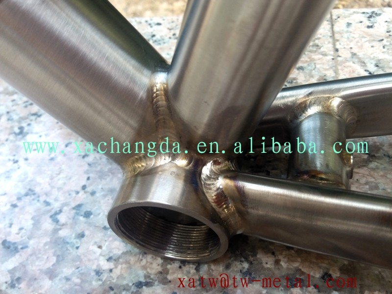 Keep welding color titanium 700c road bike frame titanium road bicycle frame customize
