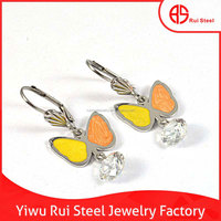 fashion jewelry stainless steel earring aretes de bisuteria