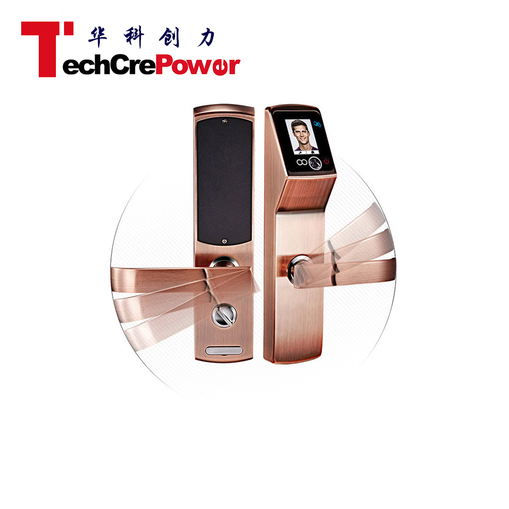 MOK6 Pin Code Keyless Digital Hd Touch Screen Face Recognition System Scanner Door Lock For Company Inn Office Home