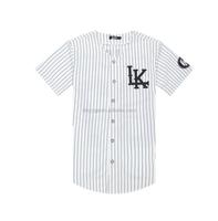 youth custom made button down cheap baseball jersey