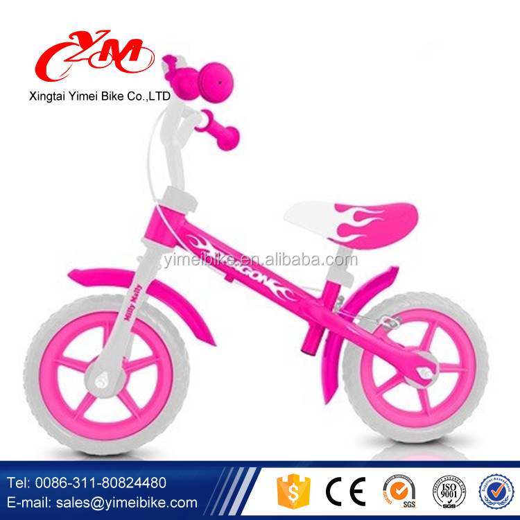 Feet power steel balance bike 2016 / pink girls kids balance bicycle pictures / Aluminum baby walker balance bike with CE