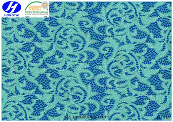 hongtai hot sale multicolored embroidery lace fabric / african cord lace fabric from china