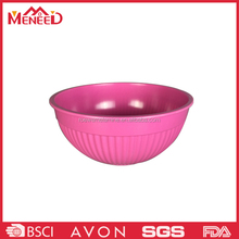 Melamine vegetable salad bowl/mixing bowl with strips