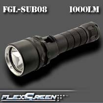 aluminum magnetic rechargeable 1000lm xm-l led <strong>diving</strong> flashlight