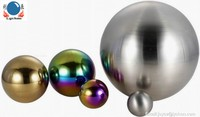 outdoor christmas ornamental balls, large hollow stainless steel sphere