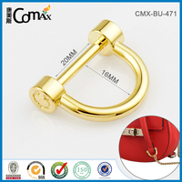 Steel Metal Buckle D Ring Clip For Canvas Leather Crossbody Bag
