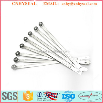 circular shaped head metal strap seal CH401