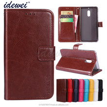 Luxury Flip PU Leather Wallet Mobile phone holster cover Case For Nokia 6 with Card Holder