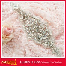 2015 latest Guangzhou Applique Wedding Design lastest crystal fashion bling beaded bridal jewlery