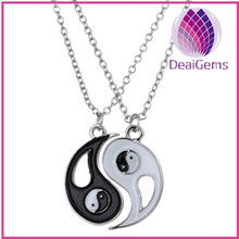 Europe&American style fashion yin yang couple alloy necklace