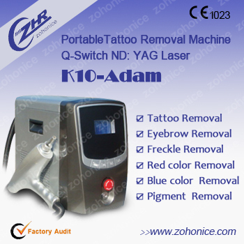 Professional q switch nd yag laser tattoo removal system for Tattoo removal products
