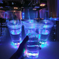 Party Supplies Led Flashing Straw Cup Double Wall Plastic Drinking Cup with Straw