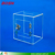 High quality custom clear acrylic cube type ballot and suggestion box with key lock
