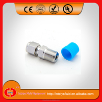 gas pipe compression fittings/stainless steel ferrule fitting connection/gas male connector