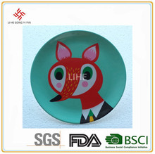 Promotional Round Halloween Printing Custom Dishes Cheap Melamine Plate