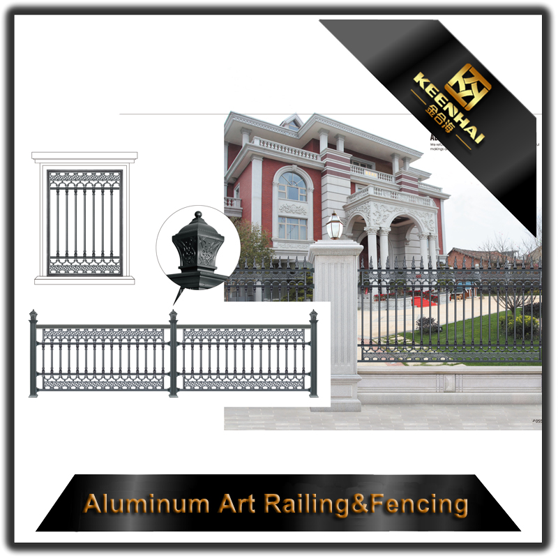 Keenhai Italian used ornamental used short aluminum fence decorative wrought iron fence panels for villa home garden