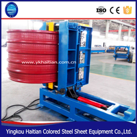 Used Color Sheet Metal Roof Bending Machines/roof sheet crimping curved machine