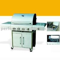 Stainless steel Outdoor BBQ Grill with 4 burners