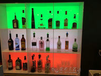 modern acrylic wine rack display rack wine led showcase