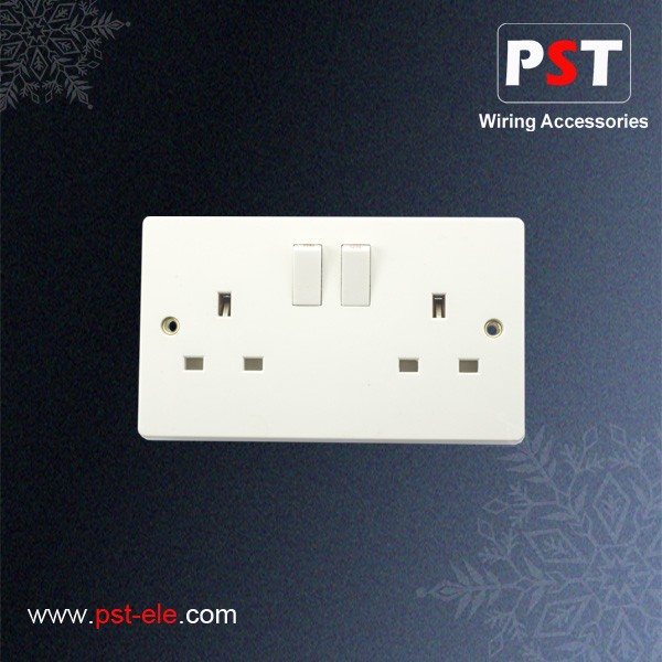 Best Price British Standard 13A Double Socket