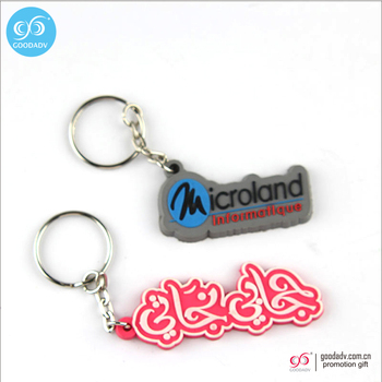 Made in china 2D/3D logo soft pvc custom keychain