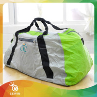 Customized Travel Expandable Folding Nylon Tote Bag Into Pouch