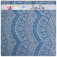 Flower pattern chemical embroidery design allover lace fabric