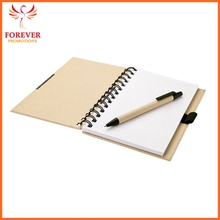Chinese Manufactory Eco Notebook Custom Logo Recycled Note Book With Spiral Binding