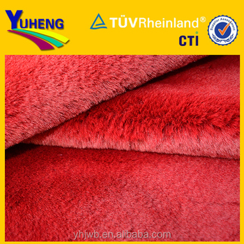 Fake Rabbit Fur Fabric/Rabbit Fur 100% Polyester PV Plush Fabric