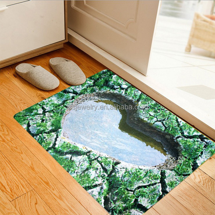 3D Printed Coral Rug 40x60 Rubber Backed Bath Mat Gaddi Photo Print Cushion Anti-Slip Foot Mat