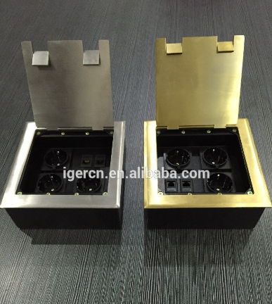 stainless steel raise style floor socket/made in china factory price hidden floor power socket for office