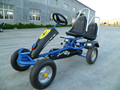 two seat big pedal go kart, go kart adult pedal