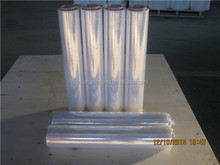 17micx450mmx2.2kg hand stretch film exported to Russia from CHINA QINGDAO JIAOZHOU