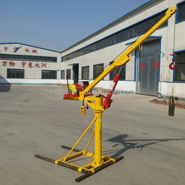 China Fastest Dropping! Small Hoist Mini Crane Window Glass Lifter