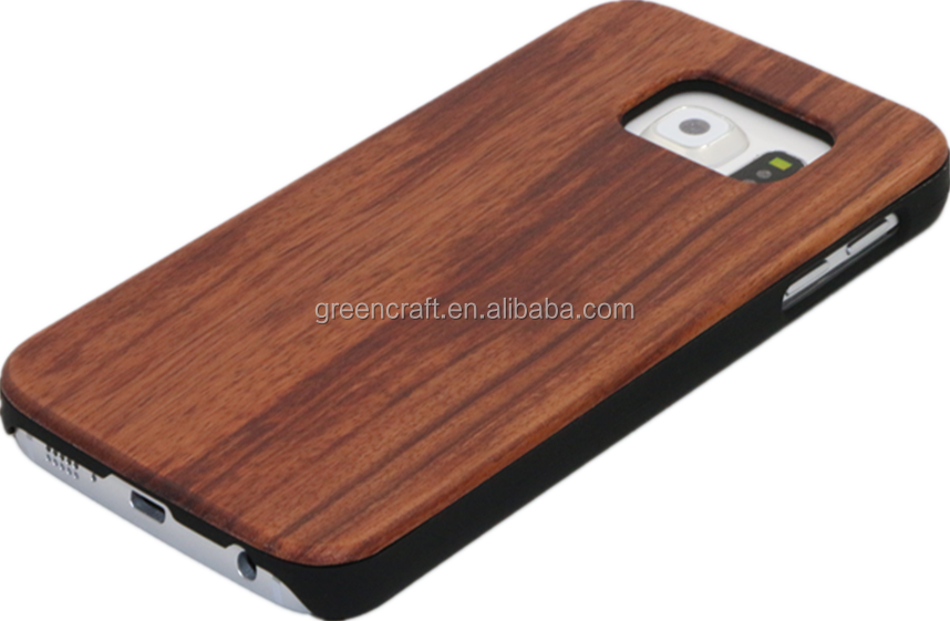 Blank Custom Rosewood For S6 Phone Case