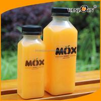 100ml 200ml 300ml 350ml 450ml Square Bottle Plastic for Beverage Package