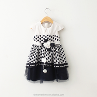 MS62676C 2015 new products for girls polka dots summer dress girls