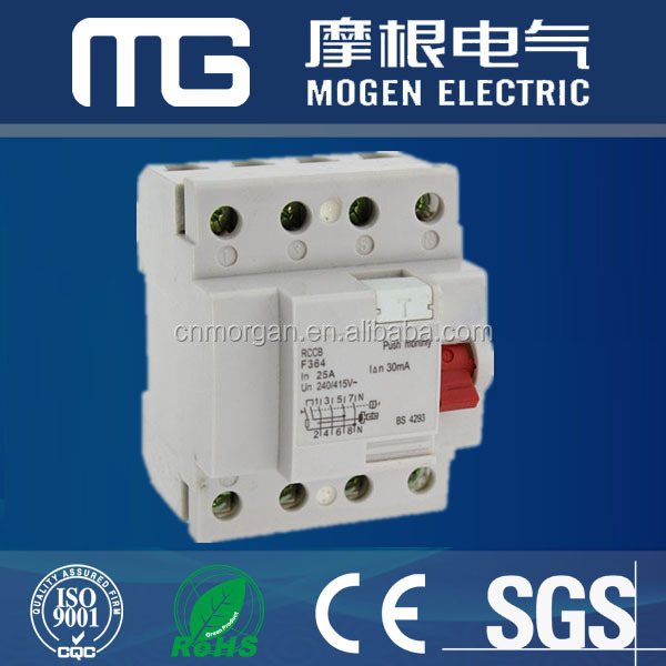 4P type AC Residual Current Circuit Breaker/30ma RCCB