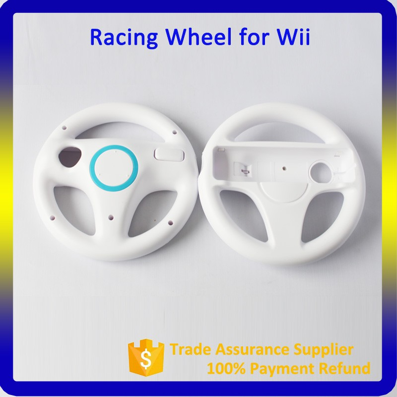 Cheapest White Racing Wheel For Nintendo Wii Game Steering Wheel