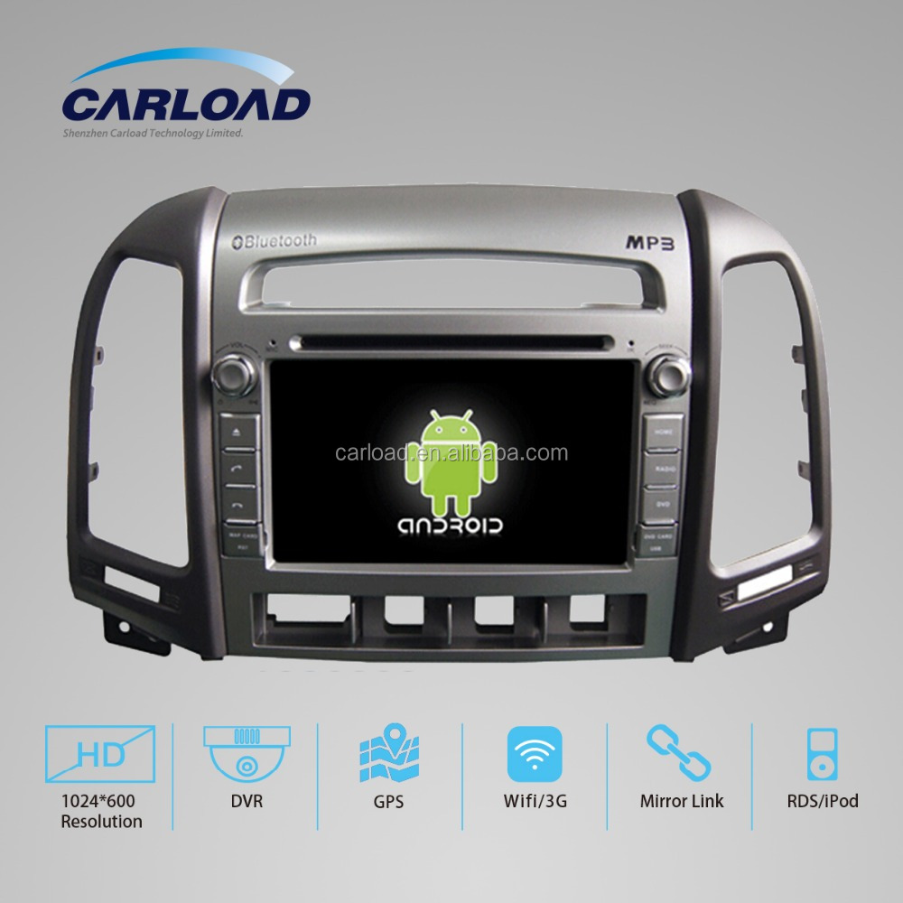 Android quad core car audio with hyunda dvd for 2 din hyundai new santa fe