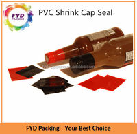 Wholesale Red Color Printed Bottle Shrink Wrap Sleeve