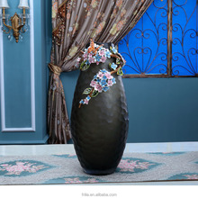 High End Enamle Painted Home Decoration Glass Vase