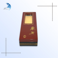 wholesale promotional cosmetic vertical pine wood laser engraving stand packaging boxes