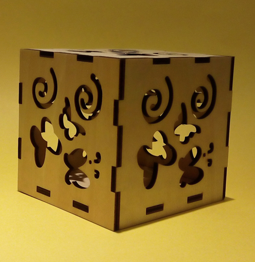 DIY Laser Cut 3D Wooden Puzzle Box