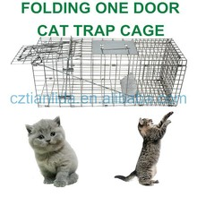 Professional Cat Trap Cage, Live Cat Trap,Cage Trap For Feral Cats---TLD2015A
