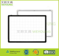 No Folded magnetic black aluminum frame whiteboard