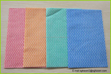 disposable lint free Household cleaning cloth/kitchen cleaning wipes/cleaning cloth