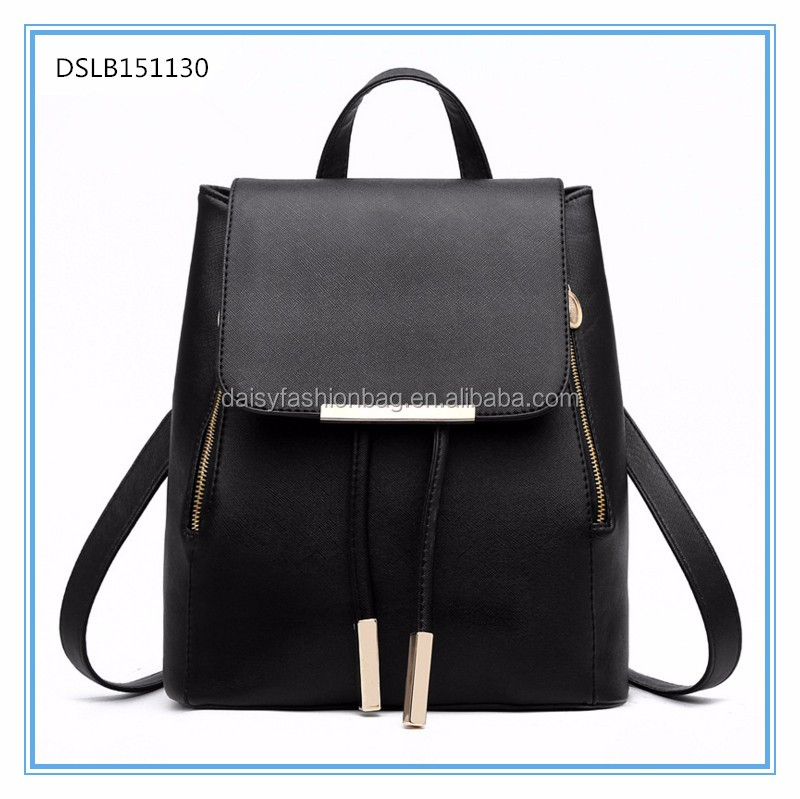 wholesale students custom fashion waterproof pu leather high school fashion backpack