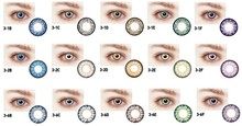 New Bio 3-1/3-2/3-6 monthly disposable lens korea14.5 mm color contact lenses